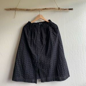 Mossimo Medi Long Black Skirt Size S
